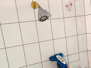 clean shower tile